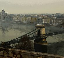 Budapest in Fog by Mariann Kovats
