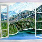 Mountain and Lake by gunnelau