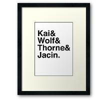 Kai & Wolf & Thorne & Jacin Framed Print