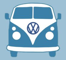 VW Camper T Shirt (blue) by Pinhead Industries