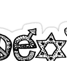 """""""Coexist"""" Zentangle Sticker"""