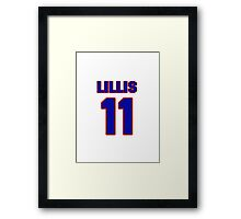 National baseball player Bob Lillis jersey 11 Framed Print