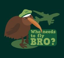 Who needs to FLY Bro? Non flying kiwi bird by jazzydevil