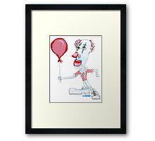 Circus Clown w. Red Ballon Framed Print