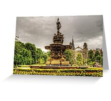 Ross Fountain and St Cuthbert's Church Greeting Card