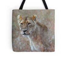 Camouflage: Female Lion Portrait, Maasai Mara, Kenya  Tote Bag