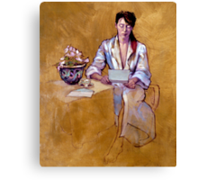 The Letter : oil painting on stretched canvas Canvas Print