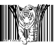 endangered TIGER BARCODE illustration Photographic Print