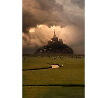 Sunset over Saint Michel Mont Photographic Print