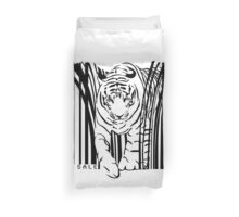 endangered TIGER BARCODE illustration Duvet Cover