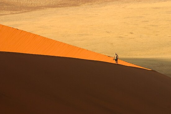 Tourist on Dune 45 by Adrianne Yzerman