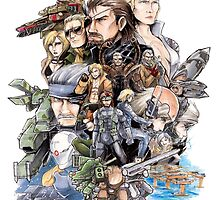 Metal Gear 25 Anniversary Art by Solbessx