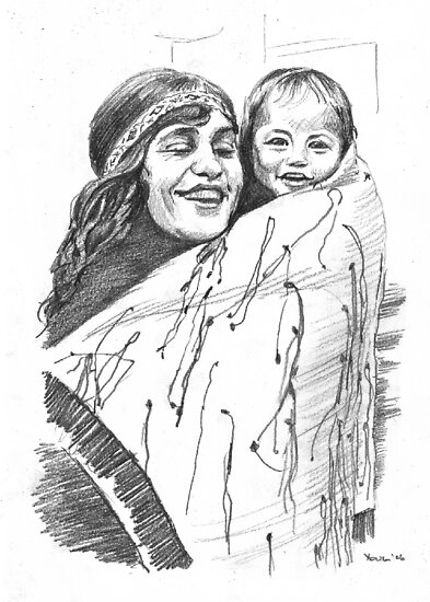 Maori Mother and Child by Alleycatsgarden
