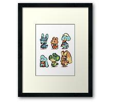 animal crossing pokemon crossover Framed Print