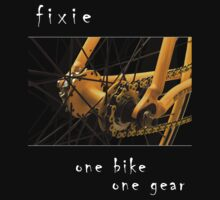 Fixie - one bike, one gear (black) by Stefan Trenker