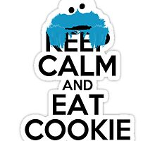 Keep Calm and Eat Cookie Art by Solbessx