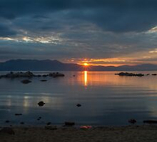 Sunset Zephyr Cove  by Richard Thelen