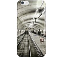 Down in the tube station at midnight iPhone Case/Skin