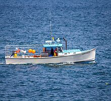 Working Lobster Boat Maine  by TKPhotos