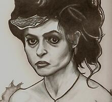 Helena Bonham Carter drawing by RobCrandall