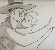 Curious George drawing by RobCrandall