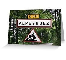 Alpe d'Huez Cycling Sign Tour de France Poster Greeting Card