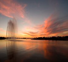 Golden Glow Fountain by Mark Jones