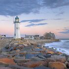 Morning Light on Scituate Harbor - Scituate, MA by Howard Simpson