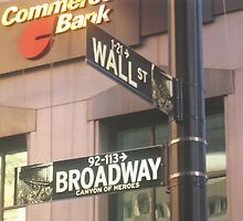 Where Broadway Meets Wall Street by Mary Kaderabek-Aleckson