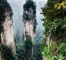 Mountain spire in Zhangjiajie National Forest Park China art photo print by ArtNudePhotos