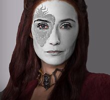 Melisandre, The Red Woman, House War Paint by HilaryHeffron
