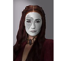 Melisandre, The Red Woman, House War Paint Photographic Print