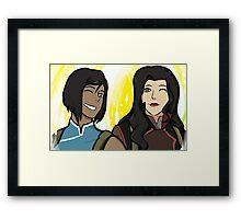 Korra   Asami Framed Print
