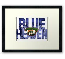 Dodger Blue Heaven Framed Print