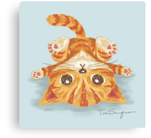 Tabby upside-down Canvas Print