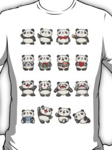 Various feeling of Panda T-Shirt