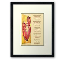 A Canvas Of My Love, My Heart, My Wife Greeting Card Framed Print