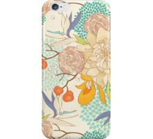 Peony Flower Pattern iPhone Case/Skin