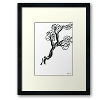Spring branch Framed Print