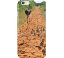 Ostrich Family - Running after Mom. iPhone Case/Skin