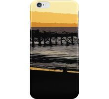 Henley jetty at dusk iPhone Case/Skin