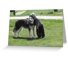 A Boy & His Dog Greeting Card