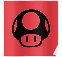 Super Mario Bros. Symbol - Super Smash Bros. (black) Poster
