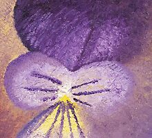 Oil painting of Pansy - Viola Tricolor by KerstinB
