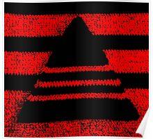 Crochet pyramid digitally manipulated Poster