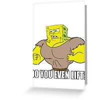 The Sponge Lifts Greeting Card