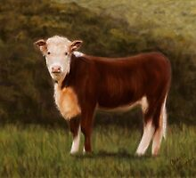Hereford Heifer by Michelle Wrighton