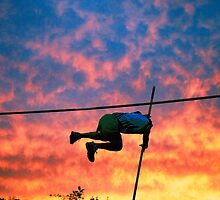 Pole Vault Sunset by BCinMB