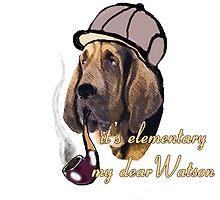 Sherlock Holmes bloodhound by IowaArtist
