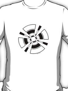 Mandala 24 Back In Black T-Shirt